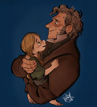 Valjean and Cosette by Renny08