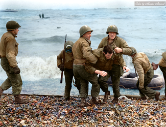 Colorization: Medics from the US 5th and 6th ESB by marinamaral