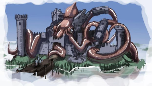 Squid fortress by gerrd