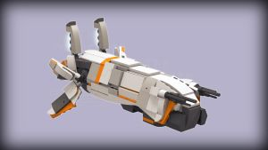 [Digital Render] Avali Nexus Ship (Starbound) by TheMugbearer