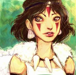 Princess Mononoke by aegia