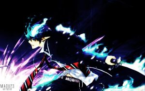 Ao no exorcist wallpaper by Maou23