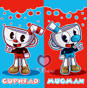 Cuphead and Mugman by Kawaiirebichan
