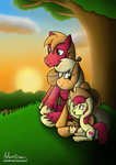 Watching the sunset by GreenflyArt