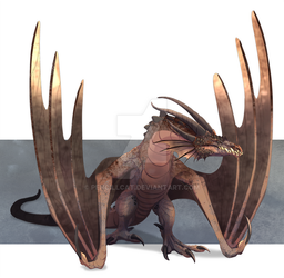 Commission - Granite Wyvern by AbelPhee