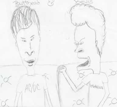 Butthead and Beavis by julie187