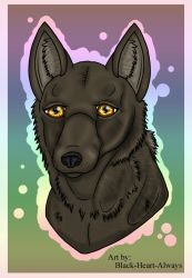 YCH Wolf/Dog headshot commission by Black-Heart-Always