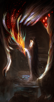 priestess of the phoenix by musane