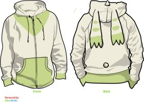 Terriermon Fleece Cosplay Hoodie - Digimon by Weeaboo-Warehouse