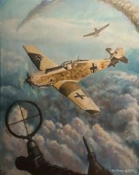 Messerschmitt 16x20 oils on canvas by MichaelThom