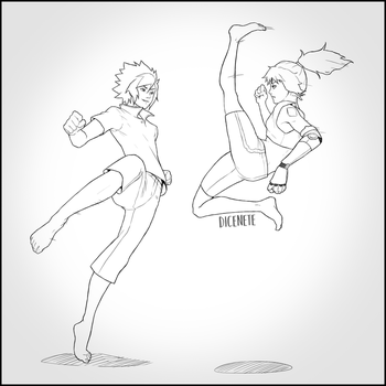 Sparring - Hiro and Yumi by Dicenete