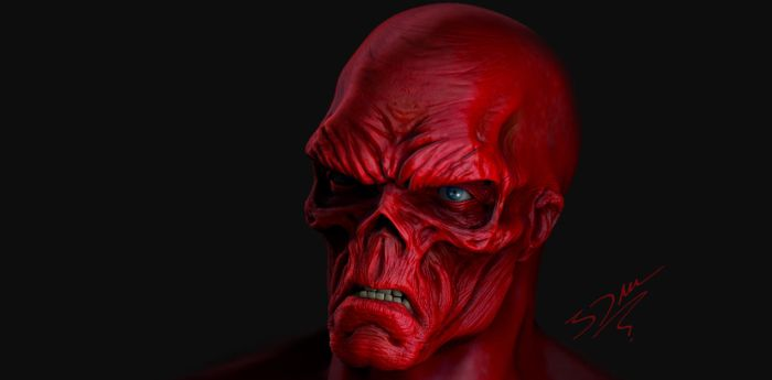 The Red Skull by 3dmetrius