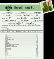 Randy Monson TMNT-U Enrollment by ShadowDragon6114