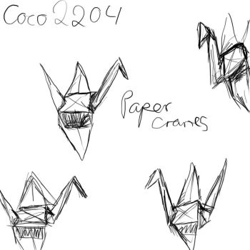Papercranes test 1 by Coco2204