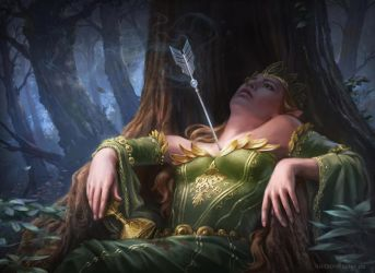 Death of the Elven Queen by LuisaPreissler