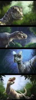 Dinosaurs by FlyQueen