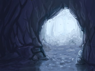 Speedpaint - Cave by MsLilly