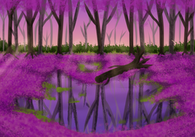 Free background - purple leaves by fujoshiprincess