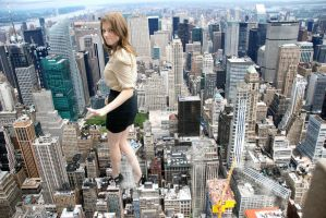 Anna Kendrick - The Very Clumsy Giantess by docop