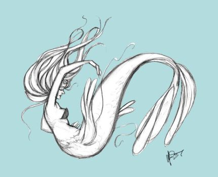 Selkie Sketch by jbsdesigns