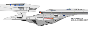 NCC-2000-A USS Excelsior by trav3000