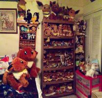 Eevee Plush Collection 2013 and Anime by Eevee-Kins