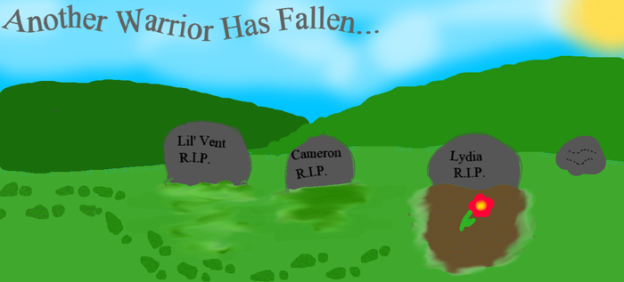 Another Warrior Has Fallen... by luv2sing57