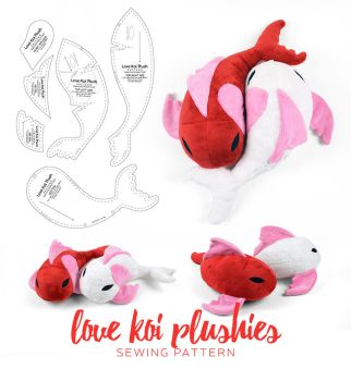 Love Koi Plushies Sewing Pattern by SewDesuNe
