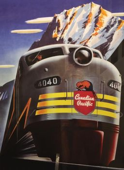 Canadian Pacific 4040 Poster at Royal Stn Hotel by rlkitterman