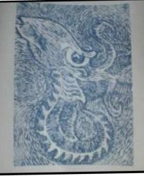 wood block print right side up by krypton619