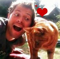 Misha loves his Cat by MuseLover5