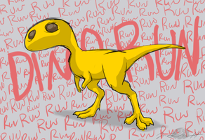 Run, Run, Dino Run by Sketchasaurus