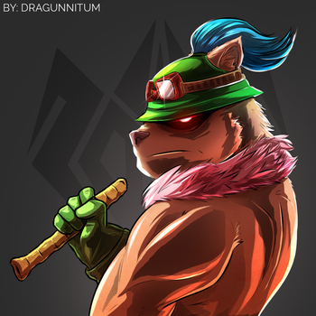 Manly Teemo by Dragunnity