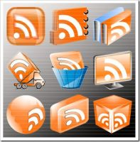 RSS Icon Set by rohman24