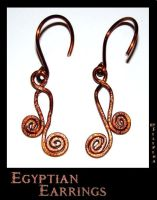 Egyptian Earrings by Marchia