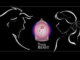 Beauty, Beast and Rose by doodleplex