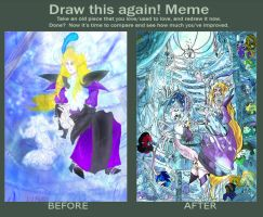 Draw this again meme Imagni and Vanilla by BubbleDriver