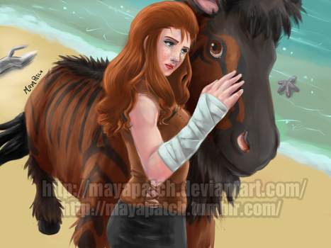 Ark-Survival Evolved: Aurora and her Equus by MayaPatch