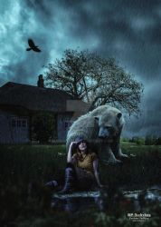 The Bear and a girl by Roshan3312