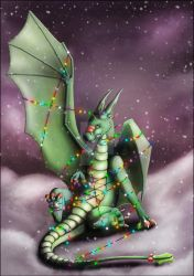 Christmas Dragon Lairy Fights by kovah