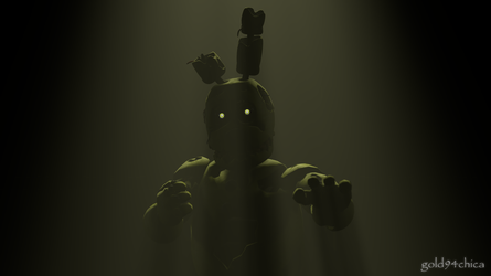 Springtrap is ready... and waiting (SFM Wallpaper) by gold94chica