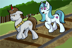 A Journey for Two Ponies by Moonlightfan