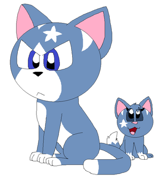 Starclaw and Starpaw by LisaDots123