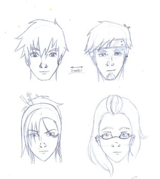 Aika and others characters by cak04