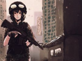 Military Girl by artevoletia