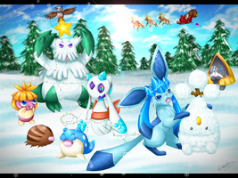 Pokemon Christmas by Rukaria