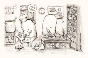 Potatoes vs humans by room4shoes