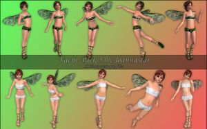 Faeries Pack 5 by joannastar-stock