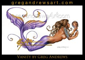 Vanity Sexy pinup art by Greg Andrews by HOT-FINS-MERMAIDS
