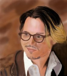 Johnny Depp - Portrait by Eva-Nina